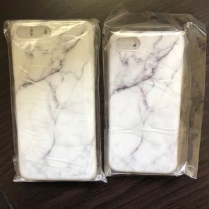 Accessories - iPhone 6/7/8 marble cases. Regular and plus.